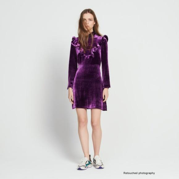 Sandro Brand New Velvet Dress